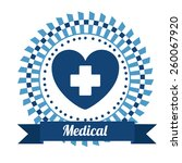 medical design  vector... | Shutterstock .eps vector #260067920