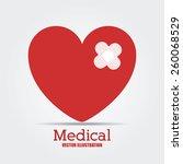 medical design  vector...   Shutterstock .eps vector #260068529
