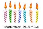 Set Of Colorful Birthday...