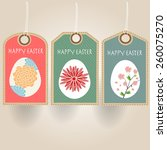easter eggs sale tag | Shutterstock .eps vector #260075270