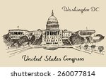 united states capital hill ... | Shutterstock .eps vector #260077814