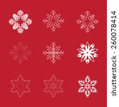 collection snowflakes for use... | Shutterstock .eps vector #260078414