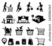 shopping mall icons.vector | Shutterstock .eps vector #260086364