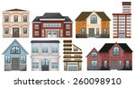 different designs of buildings... | Shutterstock .eps vector #260098910