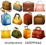 collection of different bags on ... | Shutterstock .eps vector #260099666