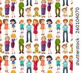 seamless family members in... | Shutterstock .eps vector #260104070