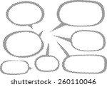 speech bubble | Shutterstock .eps vector #260110046