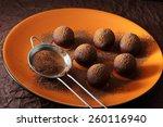 Small photo of Making truffle chocolate candies