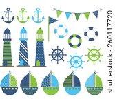 Blue Green Nautical