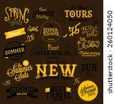 set of vector summer sales... | Shutterstock .eps vector #260124050