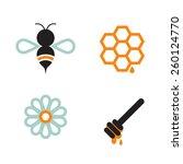 honeybee and honey supply... | Shutterstock .eps vector #260124770