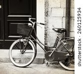 Old Photo Of Bicycle With...