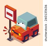 drunk car accident | Shutterstock .eps vector #260135636