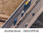 aerial view of highway in poland | Shutterstock . vector #260135918