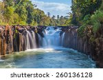 tad pha souam the waterfall in... | Shutterstock . vector #260136128