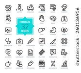 outline web icon set   medicine ... | Shutterstock .eps vector #260136956