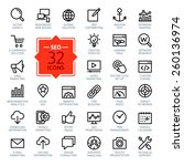 outline web icons set   search... | Shutterstock .eps vector #260136974