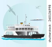 vector illustration of a ferry... | Shutterstock .eps vector #260136998