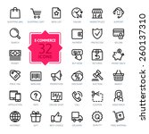 e commerce. outline web icons... | Shutterstock .eps vector #260137310
