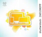 responsive design water colour... | Shutterstock .eps vector #260138099