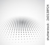 abstract dotted halftone... | Shutterstock .eps vector #260138924