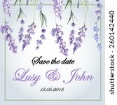 delicate wedding invitation...   Shutterstock .eps vector #260142440