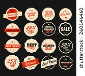 set of vector sales labels and... | Shutterstock .eps vector #260146460