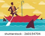great illustration of retro... | Shutterstock .eps vector #260154704