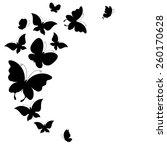 butterflies design | Shutterstock .eps vector #260170628