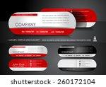 mini business card design | Shutterstock .eps vector #260172104