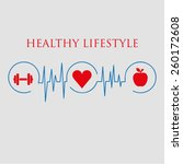 healthy lifestyle vector... | Shutterstock .eps vector #260172608