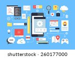 mobile application development  ... | Shutterstock .eps vector #260177000