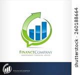 finance logo vector | Shutterstock .eps vector #260188664