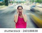 portrait of woman standing... | Shutterstock . vector #260188838