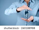 family life insurance  family... | Shutterstock . vector #260188988