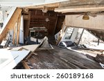Interior Of Home Destroyed In...