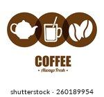 coffee shop design  vector... | Shutterstock .eps vector #260189954
