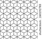 vector seamless geometric... | Shutterstock .eps vector #260192783