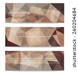 abstract geometric polygonal... | Shutterstock .eps vector #260204684