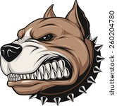 angry dog | Shutterstock .eps vector #260204780