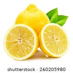 juicy lemons isolated on the... | Shutterstock . vector #260205980
