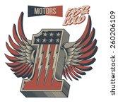 vintage motor racing number one ... | Shutterstock .eps vector #260206109