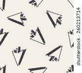 doodle arrow seamless pattern... | Shutterstock .eps vector #260213714