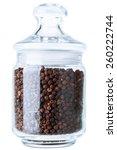 Black Pepper In A Glass Jar Fo...
