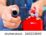 fire hydrant fire fighting unit ... | Shutterstock . vector #260223830