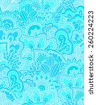 hand drawn seamless pattern... | Shutterstock .eps vector #260224223