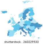 vector illustration of blue... | Shutterstock .eps vector #260229533