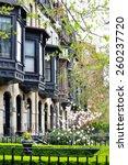 bay windows in back bay  boston.... | Shutterstock . vector #260237720
