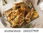 homemade lemon and herb whole... | Shutterstock . vector #260237909