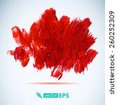 vector acrylic red ink spot.... | Shutterstock .eps vector #260252309
